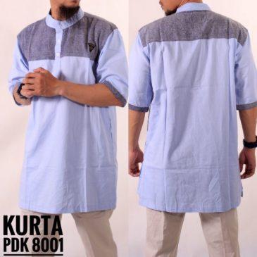 Gamis Kurta Samase 8001 Lengan Pendek Biru Samase Clothes